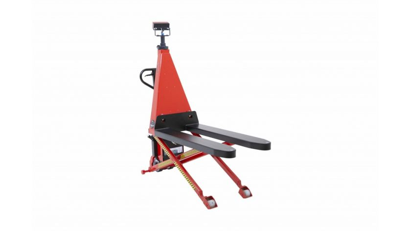 Electric scissor pallet truck with weighing scales