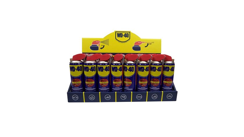 WD-40 spray counter desk