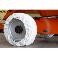 Wheel covers for aerial work platforms